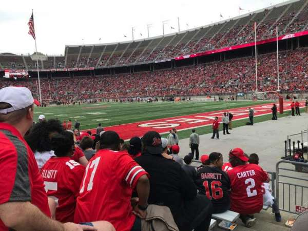 Ohio Stadium, secção: 29aa, fila: 8, lugar: 16