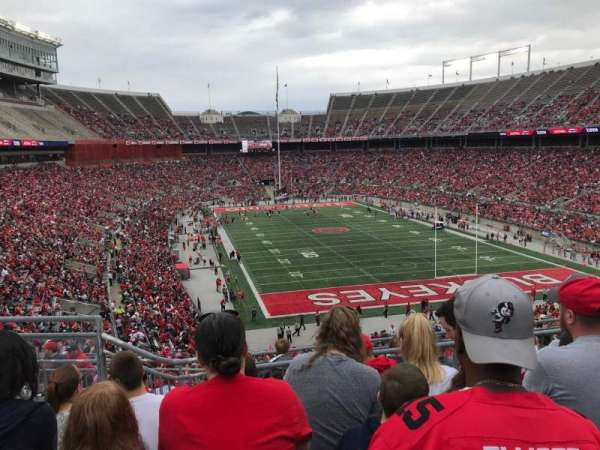 Ohio Stadium, secção: 35b, fila: 7, lugar: 13