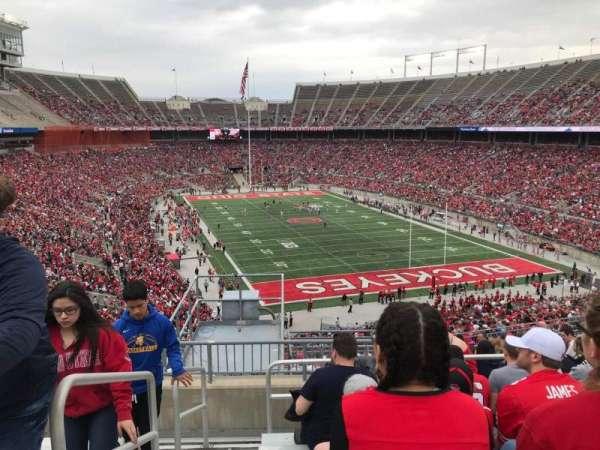 Ohio Stadium, secção: 35b, fila: 16, lugar: 33