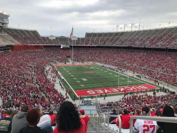 Ohio Stadium, secção: 33b, fila: 24, lugar: 1