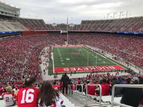 Ohio Stadium, secção: 35b, fila: 30, lugar: 2