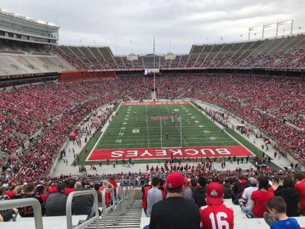 Ohio Stadium, secção: 39b, fila: 29, lugar: 34