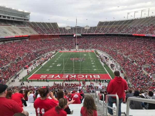 Ohio Stadium, secção: 39b, fila: 30, lugar: 1