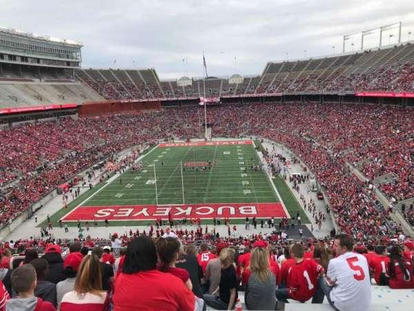 Ohio Stadium, secção: 38b, fila: 27, lugar: 25