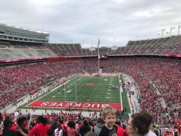 Ohio Stadium, secção: 38b, fila: 28, lugar: 3