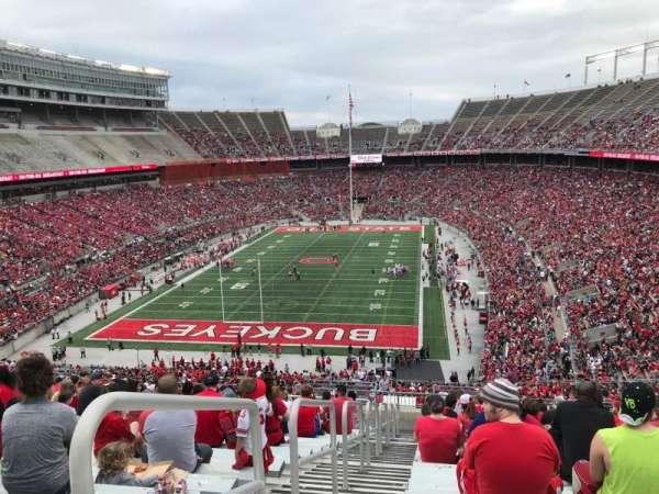 Ohio Stadium, secção: 36b, fila: 30, lugar: 38