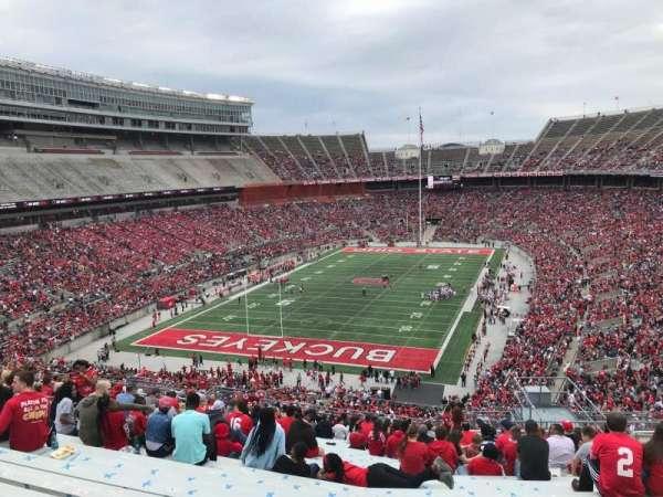 Ohio Stadium, secção: 36b, fila: 30, lugar: 11
