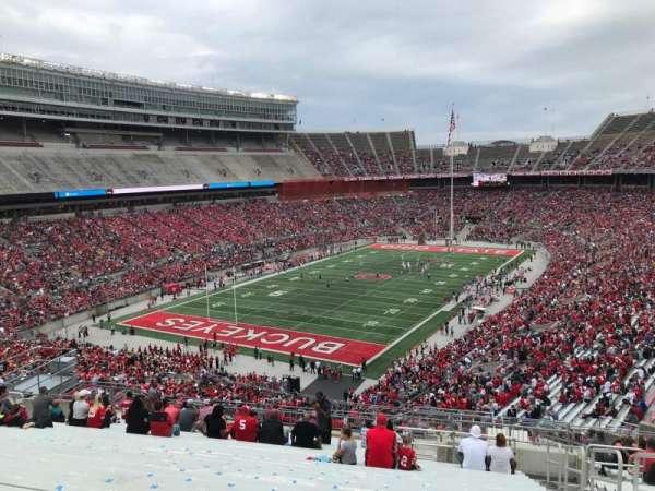 Ohio Stadium, secção: 34b, fila: 27, lugar: 3