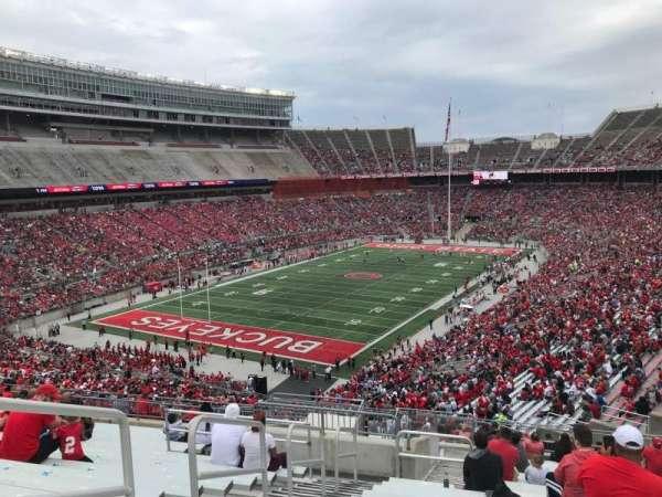 Ohio Stadium, secção: 32b, fila: 21, lugar: 15