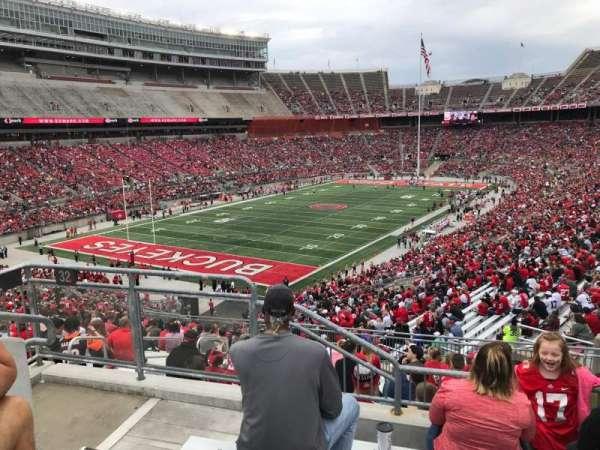 Ohio Stadium, secção: 32b, fila: 1, lugar: 12