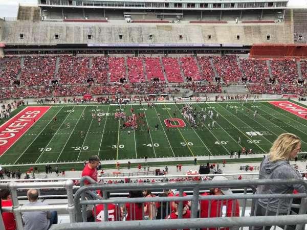 Ohio Stadium, secção: 24c, fila: 9, lugar: 4