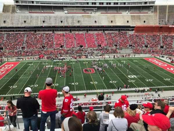 Ohio Stadium, secção: 22c, fila: 10, lugar: 30