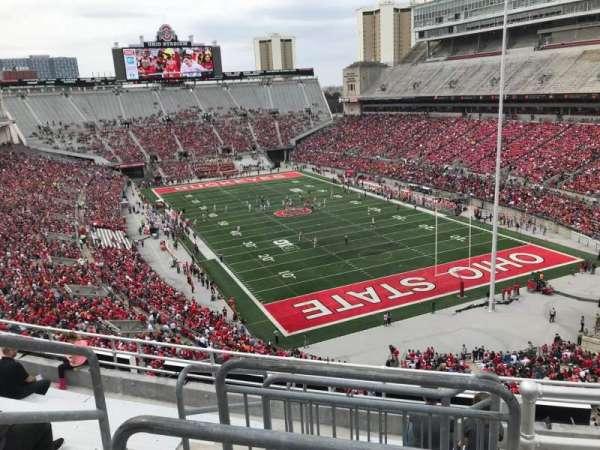 Ohio Stadium, secção: 8c, fila: 9, lugar: 12