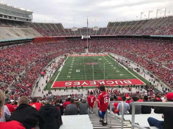 Ohio Stadium, secção: 37B, fila: 30, lugar: 1