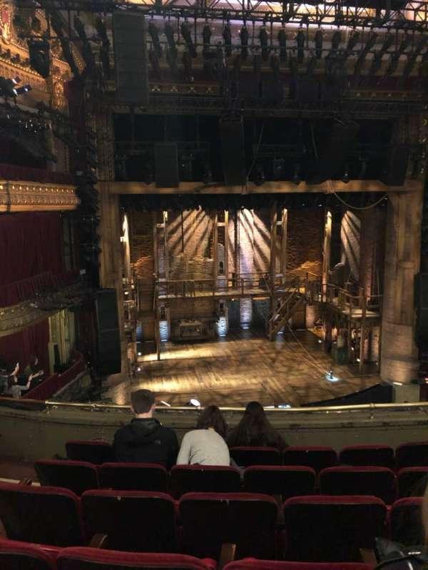 CIBC Theatre, secção: Mezzanine lc, fila: F, lugar: 319