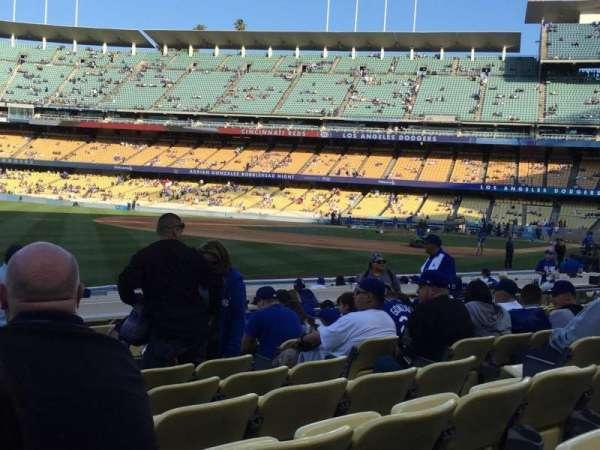 Dodger Stadium, secção: 45FD, fila: J, lugar: 8