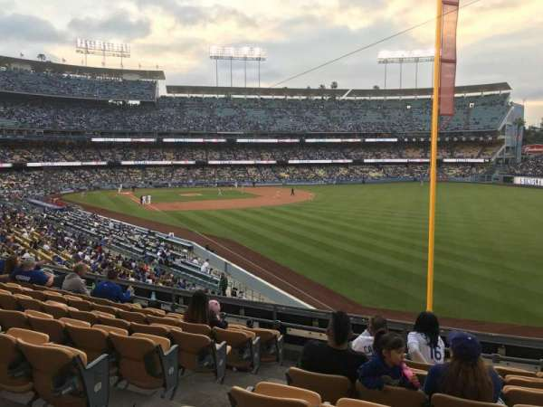 Dodger Stadium, secção: 164LG, fila: H, lugar: 3