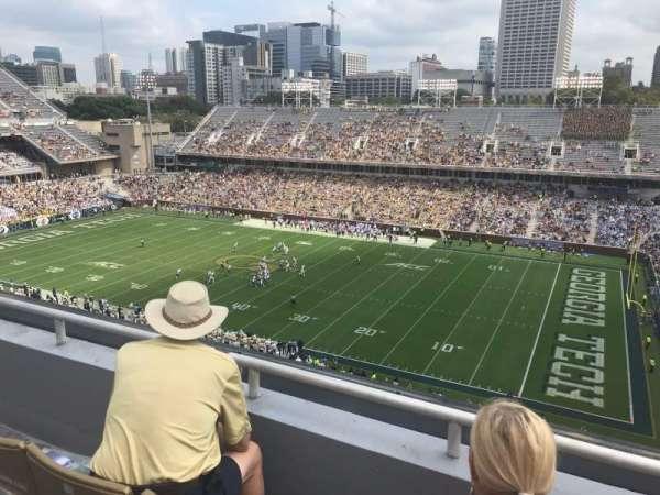 Bobby Dodd Stadium, secção: 202, fila: 3, lugar: 15