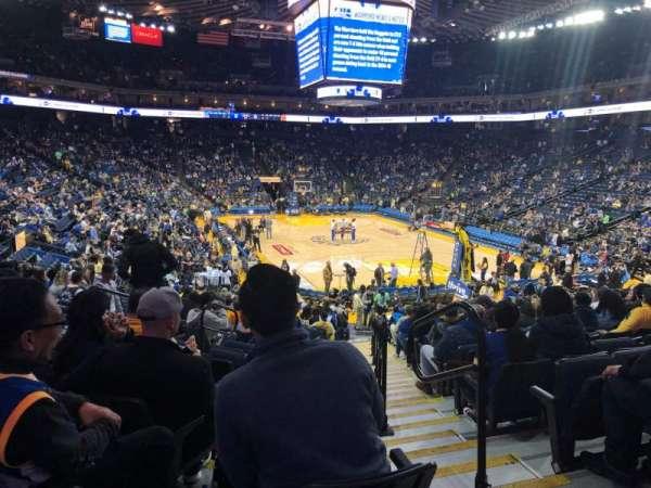 Oracle Arena, secção: 123, fila: 18, lugar: 2