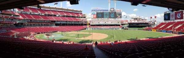 Great American Ball Park, secção: 131, fila: OO, lugar: 1