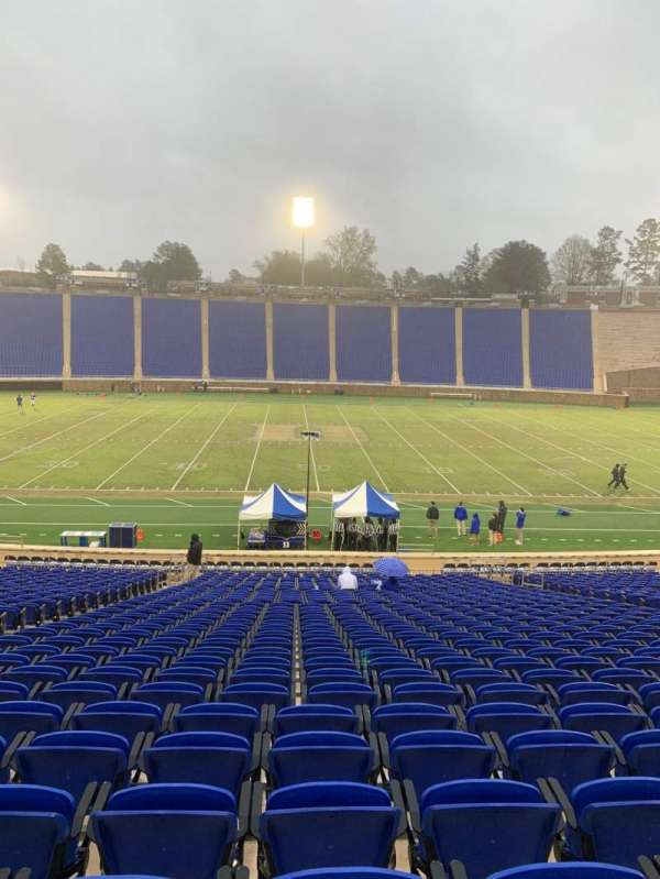Wallace Wade Stadium, secção: 26, fila: Y, lugar: 14