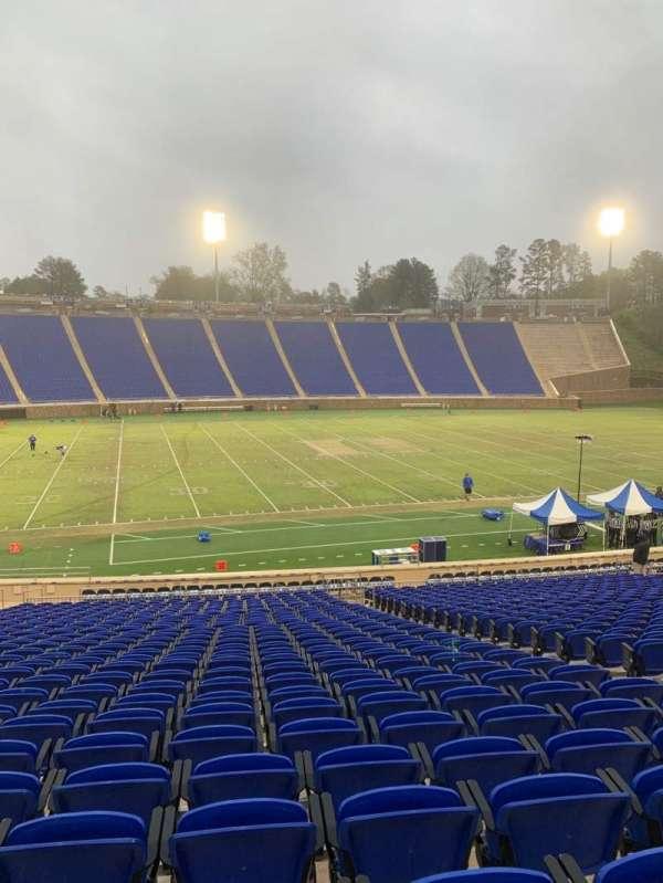 Wallace Wade Stadium, secção: 25, fila: W, lugar: 11