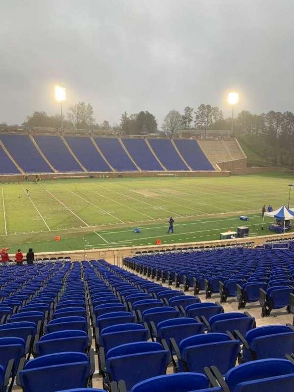 Wallace Wade Stadium, secção: 24, fila: V, lugar: 7