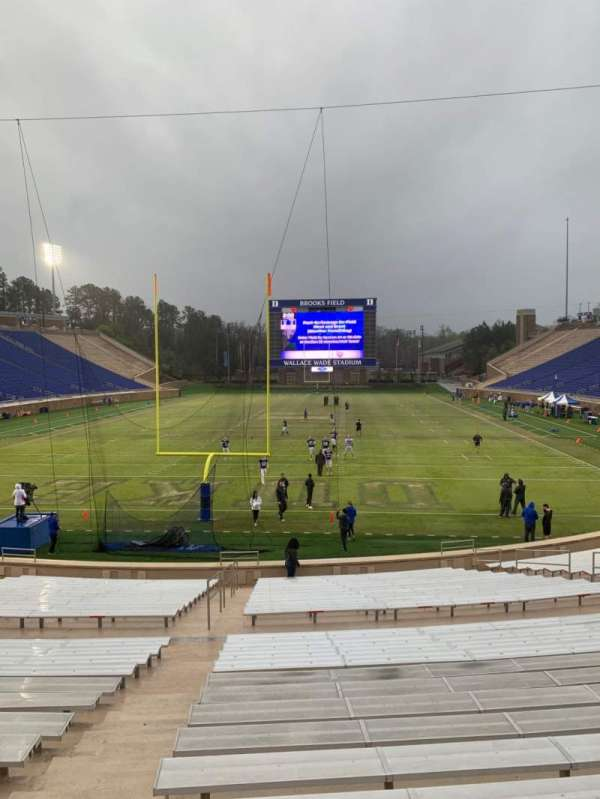 Wallace Wade Stadium, secção: 17, fila: O, lugar: 4