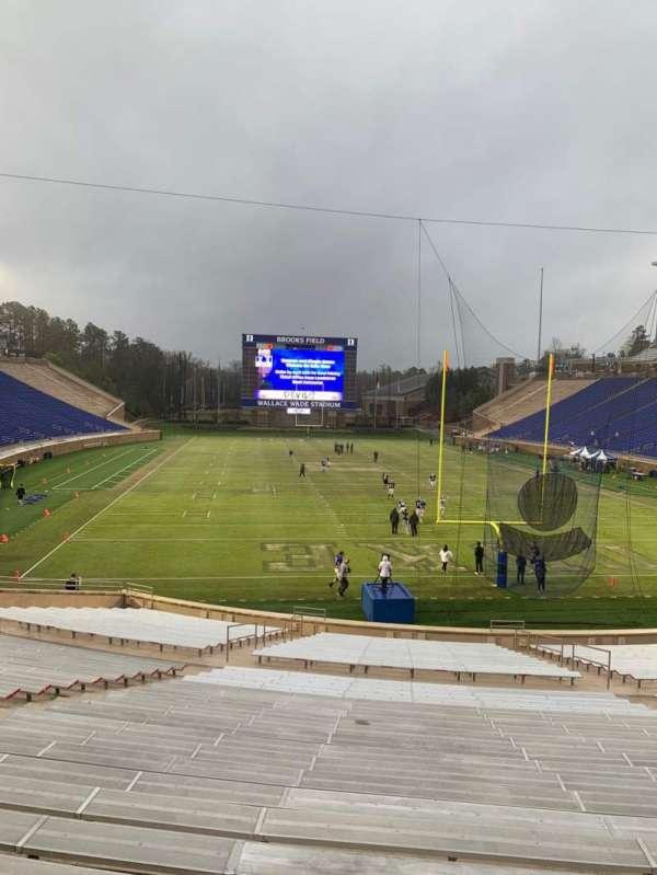 Wallace Wade Stadium, secção: 15, fila: V, lugar: 24