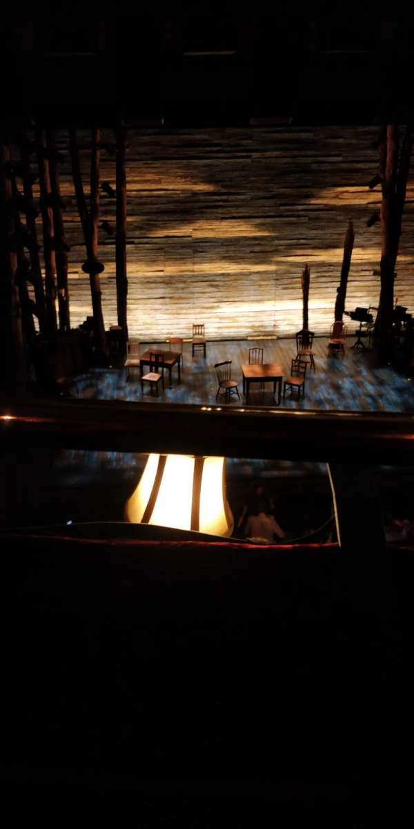 Phoenix Theatre, secção: Grand Circle, fila: A, lugar: 18