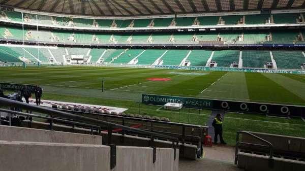 Twickenham Stadium, secção: L5, fila: 14, lugar: 222