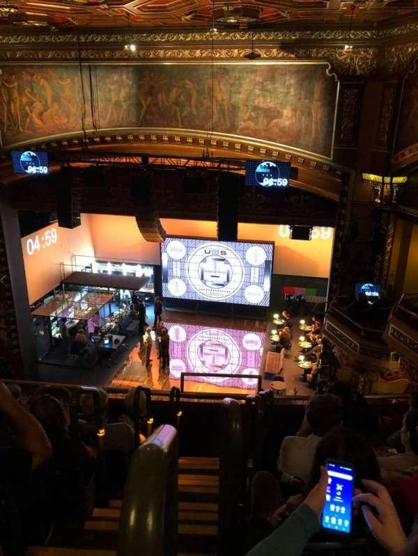 Belasco Theatre, secção: Balcony R, fila: E, lugar: 2