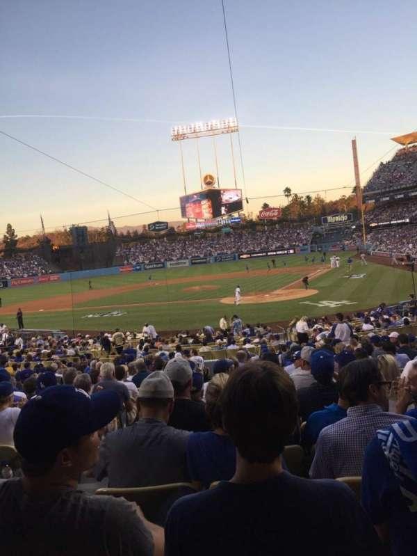 Dodger Stadium, secção: 5FD, fila: U, lugar: 12