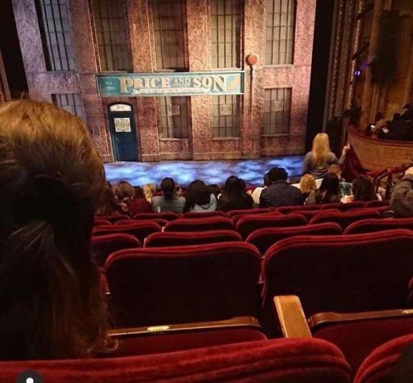 Al Hirschfeld Theatre, secção: Mezzanine C, fila: C, lugar: 105