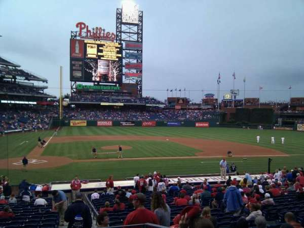 Citizens Bank Park, secção: 119, fila: 25, lugar: 5