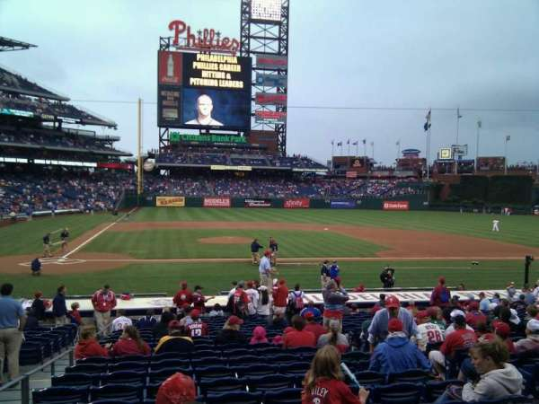Citizens Bank Park, secção: 118, fila: 21, lugar: 6