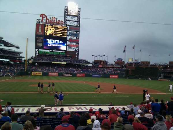 Citizens Bank Park, secção: 117, fila: 14, lugar: 14
