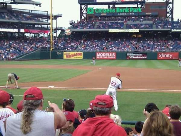 Citizens Bank Park, secção: 115, fila: 6, lugar: 13