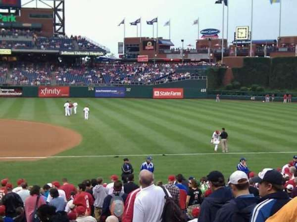 Citizens Bank Park, secção: 115, fila: 24, lugar: 3