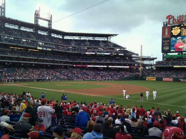 Citizens Bank Park, secção: 112, fila: 22, lugar: 10