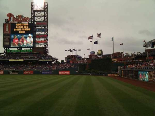 Citizens Bank Park, secção: 108, fila: 12, lugar: 17