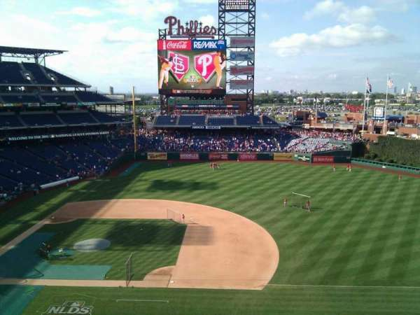 Citizens Bank Park, secção: 314, fila: 4, lugar: 19
