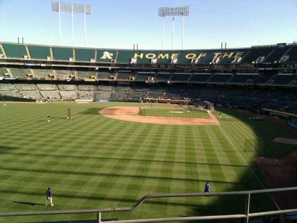 Oakland Coliseum, secção: 233, fila: 4, lugar: 10