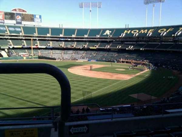 Oakland Coliseum, secção: 230, fila: 6, lugar: 6
