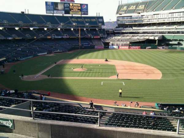 Oakland Coliseum, secção: 212, fila: 5, lugar: 11
