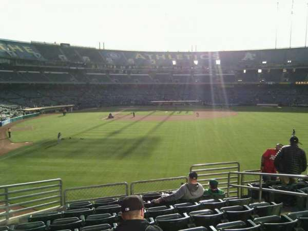 Oakland Coliseum, secção: 150, fila: 35, lugar: 7