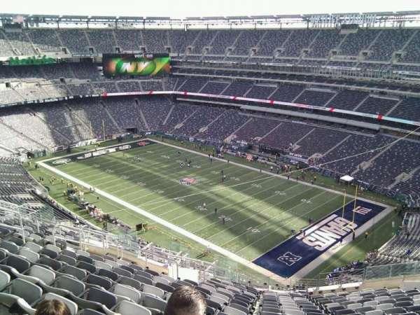 MetLife Stadium, secção: 307, fila: 21, lugar: 19