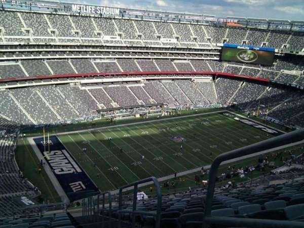 MetLife Stadium, secção: 344, fila: 25, lugar: 1