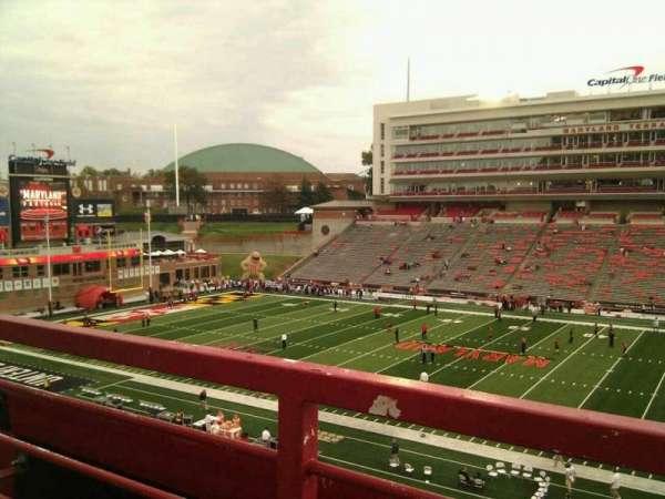 Maryland Stadium, secção: 207, fila: a, lugar: 17
