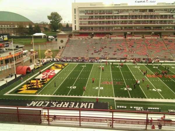 Maryland Stadium, secção: 205, fila: h, lugar: 15